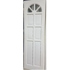"""Pine Door White 24""""x80"""" Cathedral with Glass"""