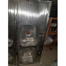Sink Double Blowl Single Drain 46-1/2x18-1.2 Left Drainboard