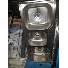 Sink 3 Bowl 45x19