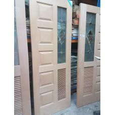 """Door Cherry Wood A08 Dec/Panel/Louvre 32""""x80"""""""