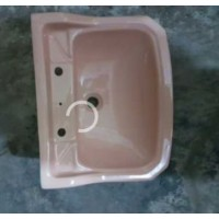 "Basin Wall Hung Pink 20"" W x 16"" D"