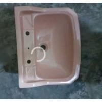"""Basin Wall Hung Pink 20"""" W x 16"""" D"""
