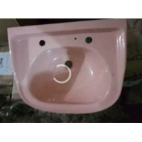 "Basin Wall Hung Pink 17"" W x 15"" D"