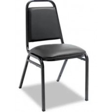 Metal Chair Padded Black