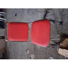 Metal Chair Padded Red
