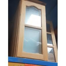 """Cupboard Door 12"""" W x 27"""" H Glass Pine"""