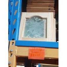 """Cupboard Door 12"""" W x 13-1/4"""" H Glass Pine"""