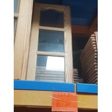 """Cupboard Door 12"""" W x 30"""" H Pine Glass"""