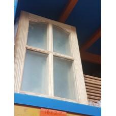 """Cupboard Door 18""""x27"""" Glass Pine"""