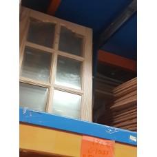 """Cupboard Door 18"""" x 30"""" Glass Pine"""