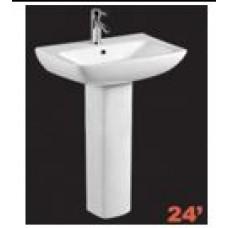 Sink and Pedestal White ZT116