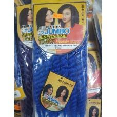 """Hair 12"""" Jumbo Senegales Blue"""