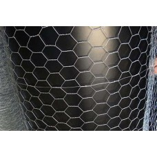 "Wire Mesh ""Chicken wire"" Hexagonal 6 ft x 100 ft x 1"" ( size of hole) 22 Guage"