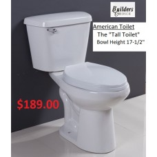 """Toilet American """"The Tall Toilet"""""""