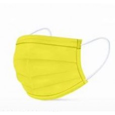 Masks Adults 3ply Yellow 1 pc