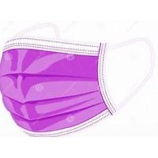 Masks Adults 3ply Purple 1 pc