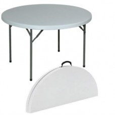 Table 4ft Round Folding Fold in Half