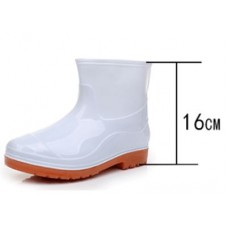 Rubber Boots Short White