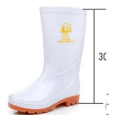 Rubber Boots Tall White