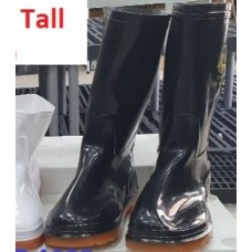 Rubber Boots Tall Black