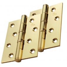 Door Hinge 4x3 Pair with Screws Brass