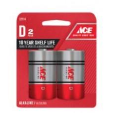 Battery ACE Alkaline D 2pk