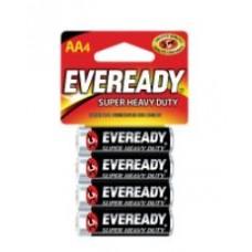 Battery Eveready Super Heavy Duty AA 4 pk