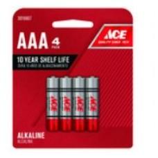 Battery Ace Alkaline AAA 4pk