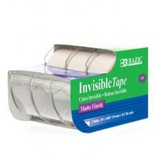 """Bazic Invisible Tape 3Pk 3/4"""" x 500"""""""