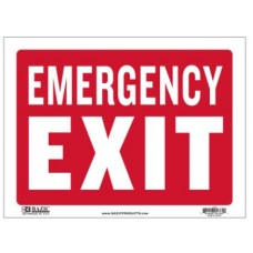 Sign Emergency Exit 12x16