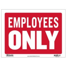Sign Employees Only  12x16