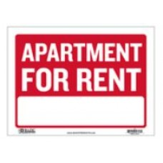 Sign Apartment for Rent 9x12