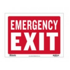 Sign Emergency Exit 9x12