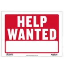 Sign Help Wanted 9x12