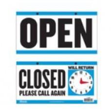 Sign Open Clock 6x11.5
