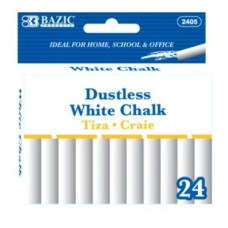 Bazic Chalk Dust Free White 24pk