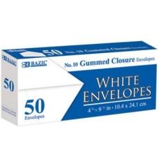 Bazic Envelope White #10 50pk