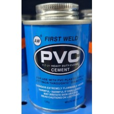 Adhesive PVC Heavy Duty Clear Cement 125g