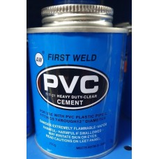 Adhesive PVC Heavy Duty Clear Cement 250g