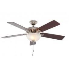 Fan Hunter Astoria 52 in. Indoor Brushed Nickel Ceiling Fan with Light Kit