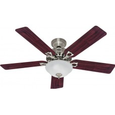 Fan Hunter Stanford 52 in. Indoor Brushed Nickel Ceiling Fan with Light Kit