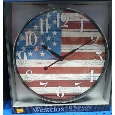 "Westclox 12"" Wall Clock American Flag"