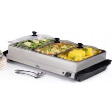 Buffet Warmer 3 Compartment with covers