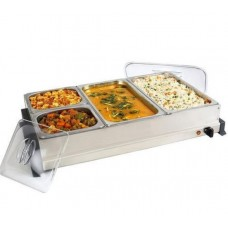Buffet Warmer 4 Compartment with covers