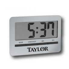 Taylor® 5846 Big Readout Digital Timer with Clock and Alarm