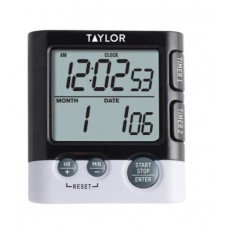 Taylor® 5828 Dual Event Digital Timer/ Clock, Hour & Minute Timing