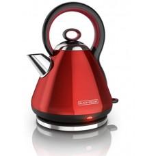 Black & Decker  1.7L Stainless Steel Electric Cordless Kettle, Red, KE2900R