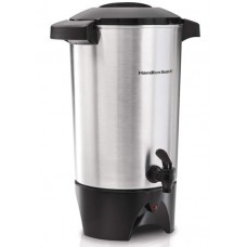Hamilton Beach 42 Cup Coffee Urn and Hot Beverage Dispenser, Silver