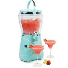 Nostalgia Margarita & Slush Machine, Makes 1 Gallon of Drinks, Easy-Flow Spout, With Carry Handle, Aqua