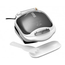 George Foreman GR10ABW Champ Grill with Bun Warmer, White